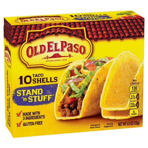 Old El Paso Stand 'N Stuff Yellow Corn Taco Shells 10ct - image 1 of 3