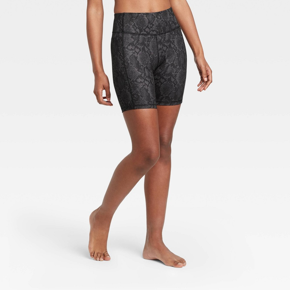 Women 39 S Contour Power Waist High Waisted Shorts 7 34 All In Motion 8482 Black Xs