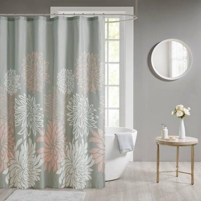 Calla Printed Shower Curtain Blush