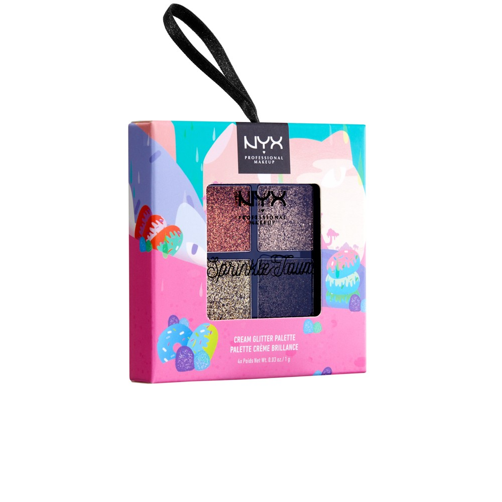 Nyx Professional Makeup Sprinkle Town Glitter Palette Choco - 0.14oz, Chocolate Shake