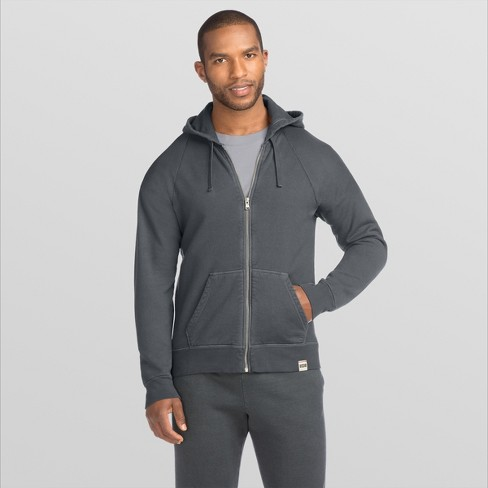 Hanes 1901 Men's Raglan Full-Zip Fleece Hooded Sweatshirt - image 1 of 2