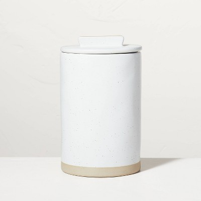 Large Speckled Matte Stoneware Canister Sour Cream/Tan - Hearth & Hand™ with Magnolia