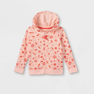 Toddler Girls' French Terry Zip-Up Hoodie - Cat & Jack™