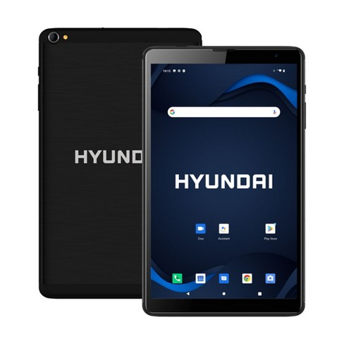 "Hyundai HyTab Plus 8LB1, 8"" HD IPS Display Tablet, 2GB RAM, 32GB Storage, Quad-Core Processor, Dual Camera, 4G LTE, Android 10 Go Edition - Black - image 1 of 4"