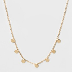 Small Circle Pendent Necklace - A New Day™ Gold