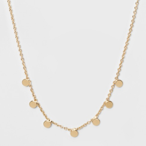 Small Circle Pendent Necklace - A New Day™ Gold - image 1 of 2