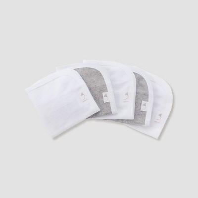 Burt's Bees Baby® Organic Cotton 5pk Washcloth Set - Heather Gray