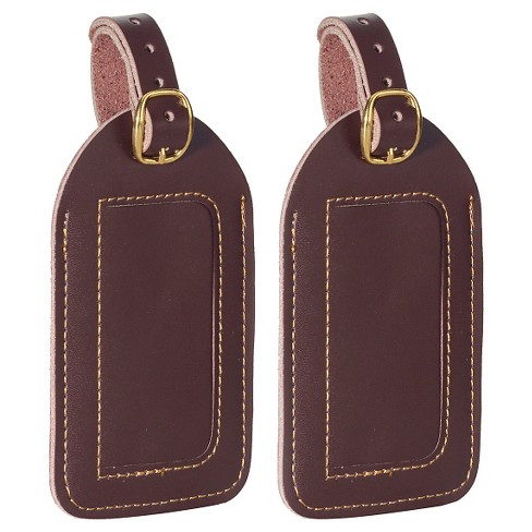 TravelSmart 2 Pack Leather Luggage Tags - Brown - image 1 of 1