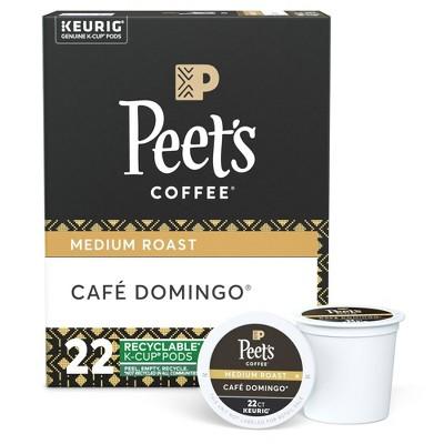Peet's Cafe Domingo Medium Roast Coffee - Keurig K-Cup Pods - 22ct