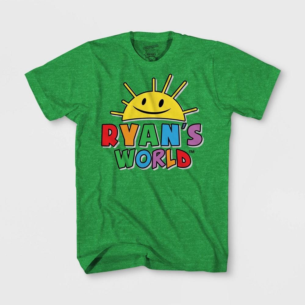 Image of petiteBoys' Ryan's World Short Sleeve T-Shirt - Green S, Boy's, Size: Small