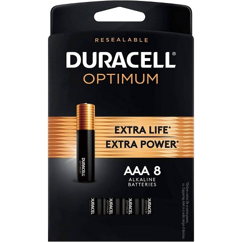 Duracell Optimum AAA Batteries - 8 Pack Alkaline Battery with Resealable Tray - image 1 of 4
