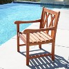Vifah Malibu Eco-friendly Outdoor Hardwood Garden Arm Chair - image 2 of 3