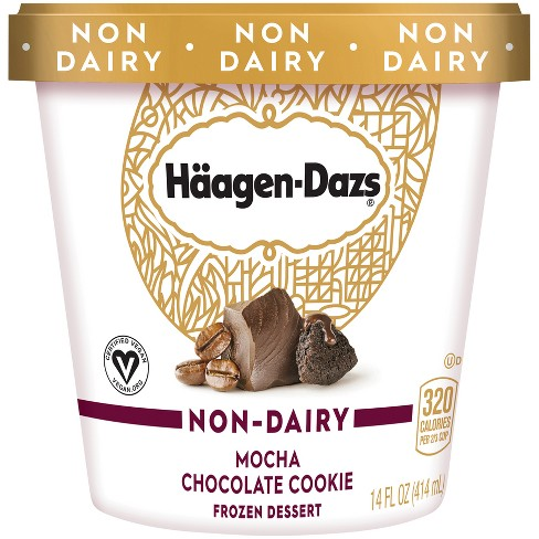 Haagen-Dazs Mocha Chocolate Cookie Non-Dairy Frozen Dessert - 14 fl oz - image 1 of 3