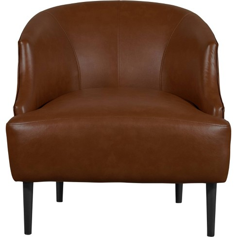 Jameston Leather Club Chair Brown - Finch - image 1 of 4
