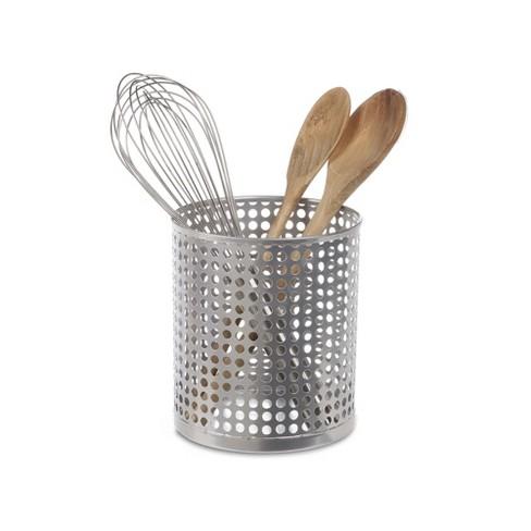 Design Ideas Edison Utensil Cup Kitchen Utensil Holder Silver 5 5 X 5 5 X 6 4 Target