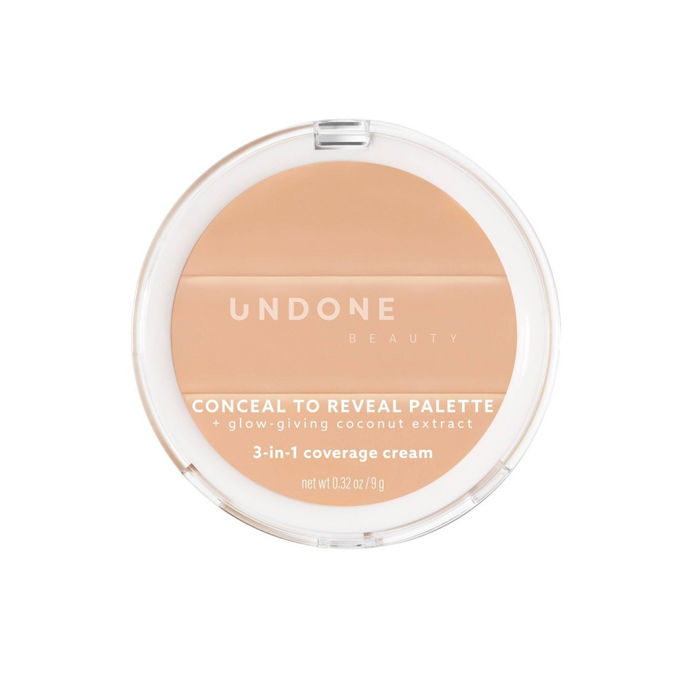 Image of UNDONE BEAUTY Conceal To Reveal 3-in-1 Concealer Palette - Buttercream Medium Light - 0.32oz