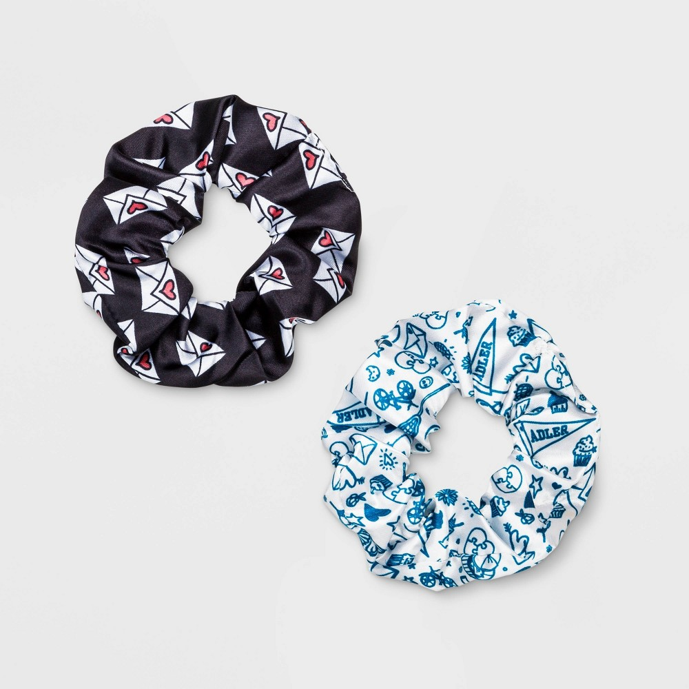 Image of Girls' Netflix To All The Boys Scrunchie - Black/White