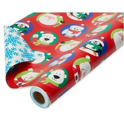 "30"" 175 sq ft Reversible Santa Gift Wrap - American Greetings"