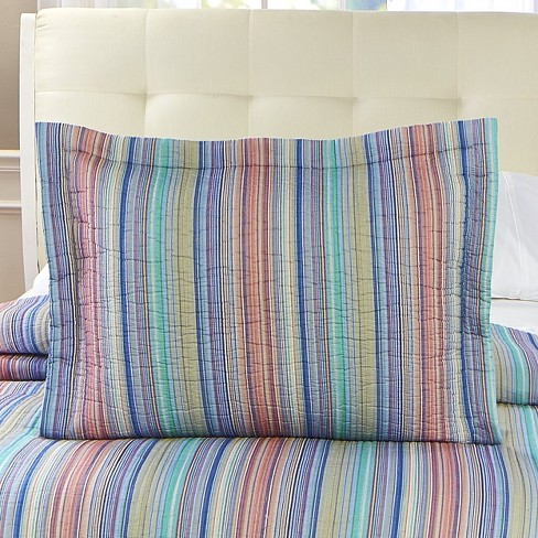 Lakeside Retro Striped Pillow Sham For Bedrooms Furniture And Around The Home Spice Target