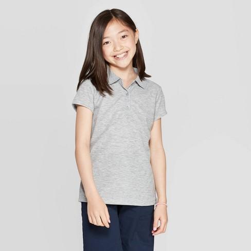 Girls' Short Sleeve Performance Uniform Polo Shirt - Cat & Jack™ - image 1 of 3