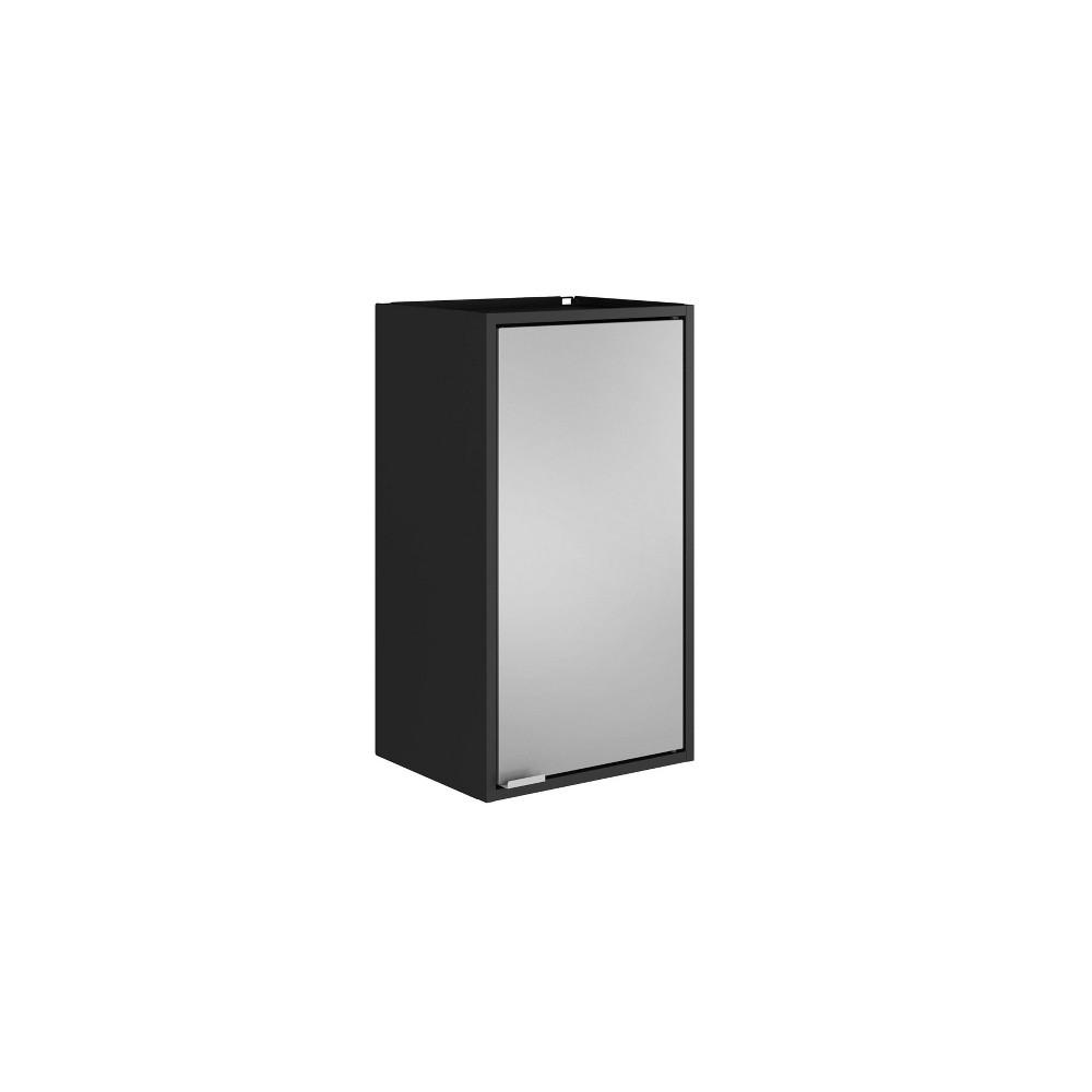 "Image of ""13.77"""" Smart Floating Cabinet Black/Gray - Manhattan Comfort"""