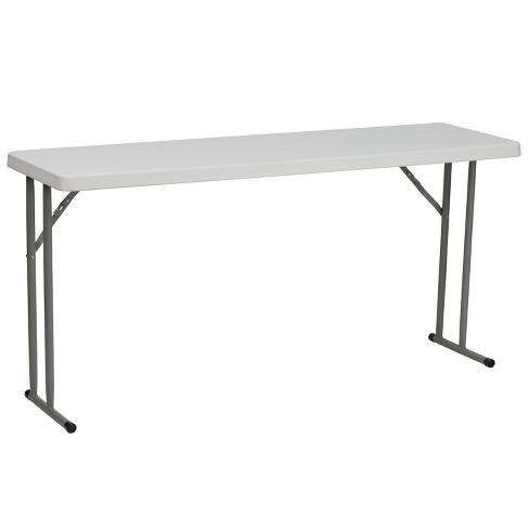 Flash Furniture 5-Foot Granite White Plastic Folding Training Table - image 1 of 4