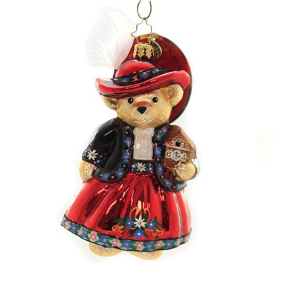 "Christopher Radko 5.25"" Tea Time For Muffy Ornament Vanderbear German  -  Tree Ornaments"