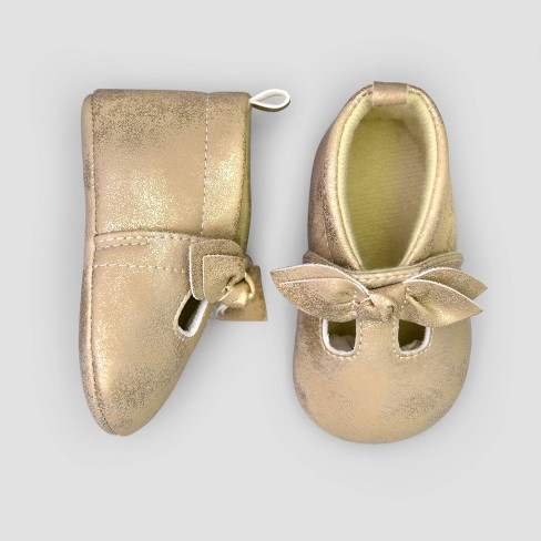 Baby Girls' Moccasin Shoes - Just One You® made by carter's Gold - image 1 of 1