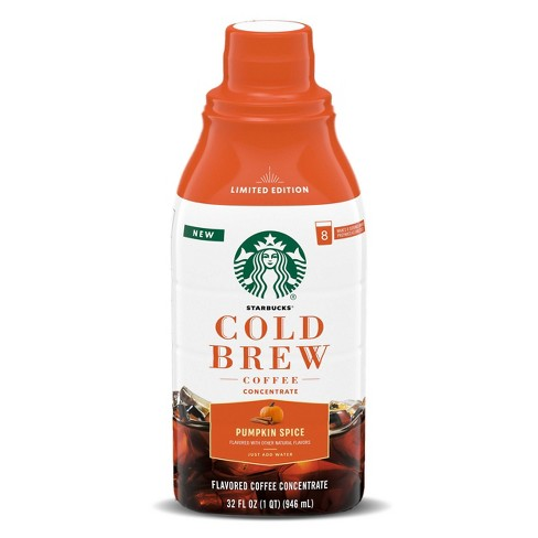 Starbucks Pumpkin Spice Latte Light Roast Cold Brew Coffee Concentrate - 32oz - image 1 of 4