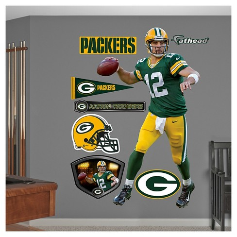 "Green Bay Packers Fathead® Decorative Wall Art Set - 52""x4""x4"" - image 1 of 1"