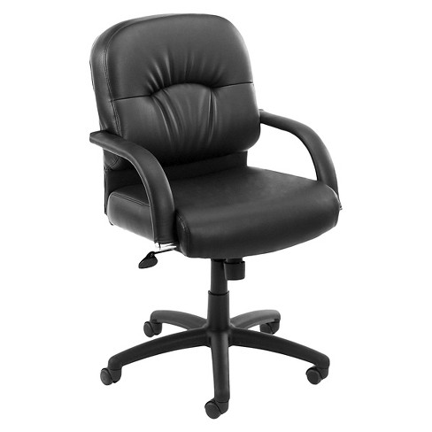 Mid Back Caressoft Chair with Knee Tilt Black - Boss Office Products - image 1 of 1