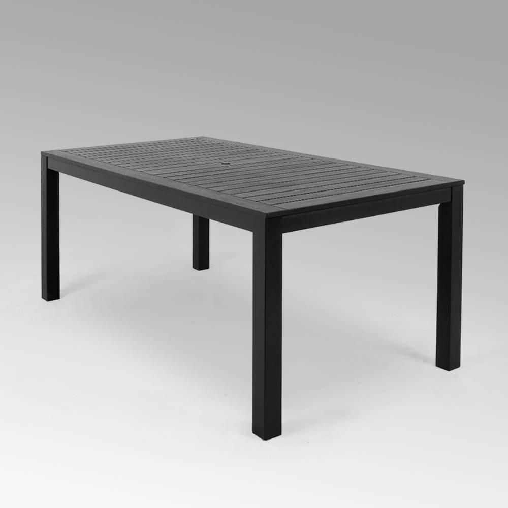 Alfresco Wood Outdoor Patio Dining Table - Dark Gray - Cambridge Casual