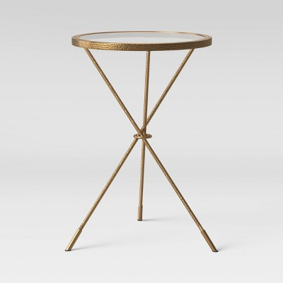 Paeonia Round Glass Top Accent Table Gold - Opalhouse™