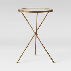 Paeonia Pattern Glass Top Accent Table - Opalhouse™