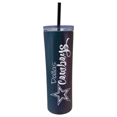 NFL Dallas Cowboys 20oz Onyx Skinny Tumbler with Straw