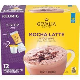 Gevalia Kaffe Mocha Latte Espresso Roast Coffee Single Serve Pods - 12ct