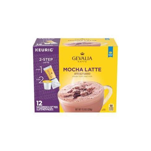 Gevalia Kaffe Mocha Latte Espresso Roast Coffee Single Serve Pods - 12ct - image 1 of 4