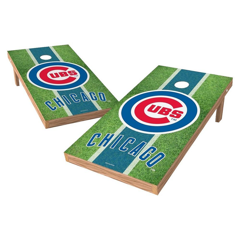 Chicago Cubs Wild Sports XL Shield Field Cornhole Bag Toss Set - 2x4 ft.