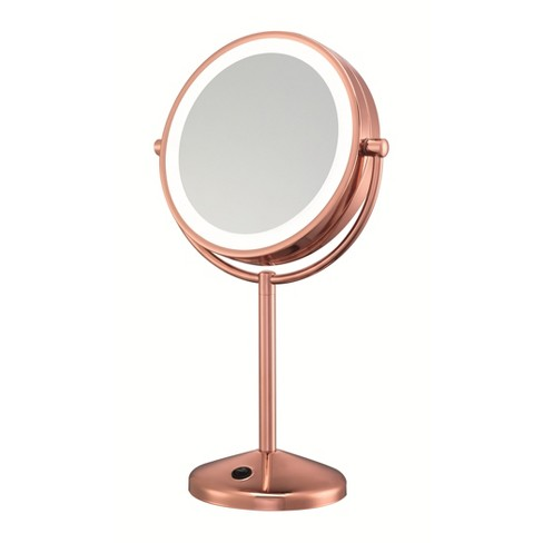 Lighted Makeup Mirror With Magnification.Conair Led Makeup Mirror 1x 10x Magnification Rose Gold