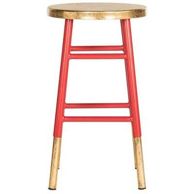 "24"" Emery Dipped Gold Leaf Counter Height Barstool - Safavieh"