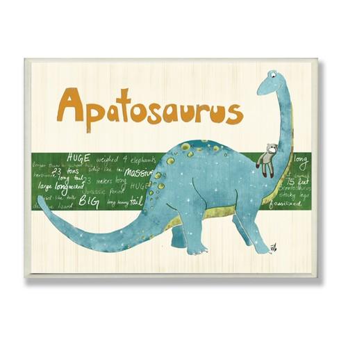 "Apatosaurus Dinosaur Wall Plaque Art (10""x15""x0.5"") - Stupell Industries - image 1 of 3"