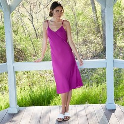 Women's Sleeveless Satin Slip Dress - A New Day™