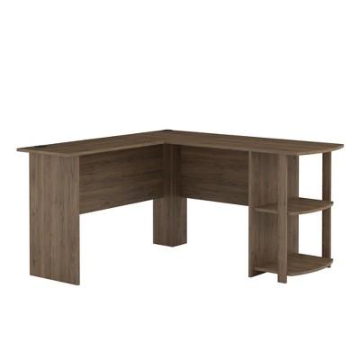 Fieldstone Wood L Shaped Computer Desk with Storage  - Room & Joy