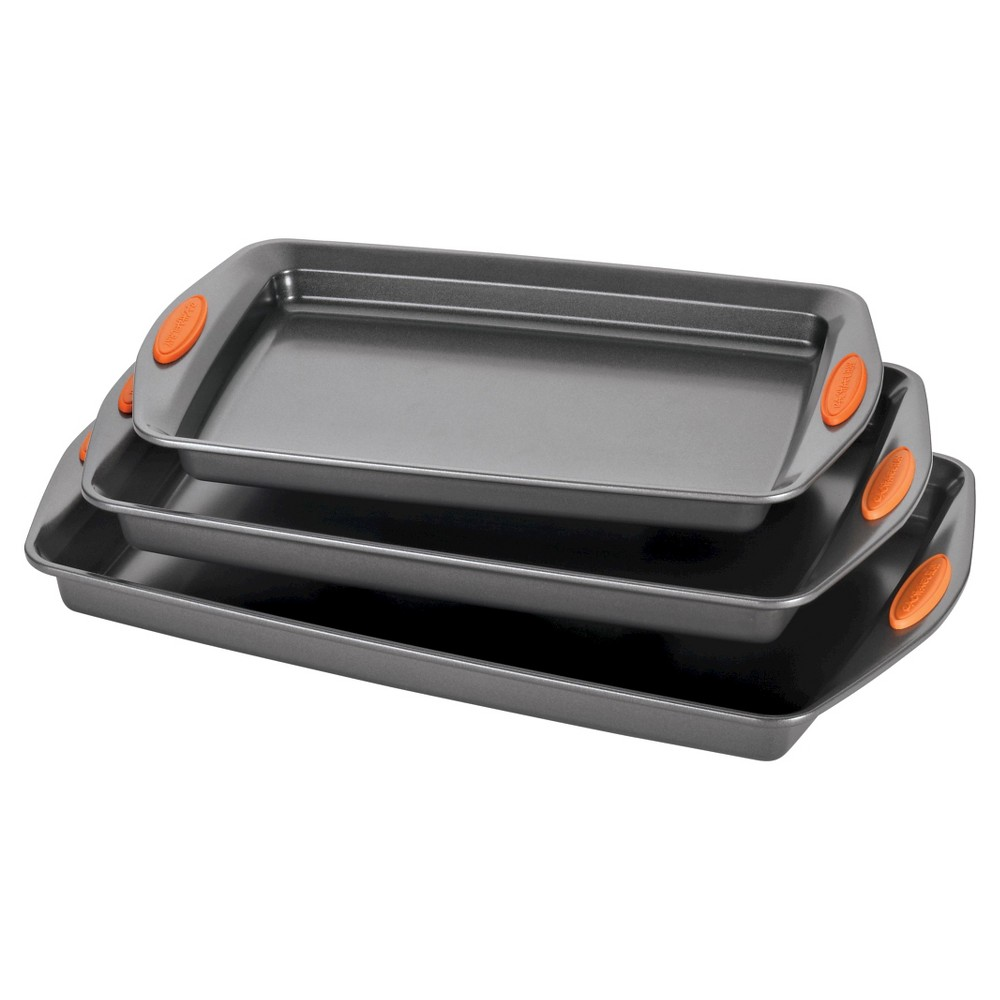 Rachael Ray 3 Piece Baking And Cookie Pan Set