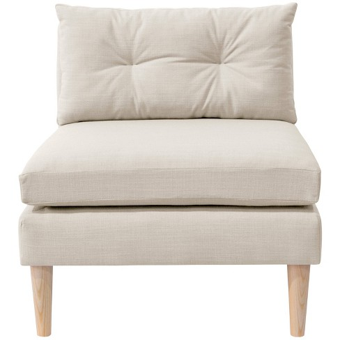 Armless Chair with Pull Seam Pillow Linen Talc - Simply Shabby Chic® - image 1 of 4