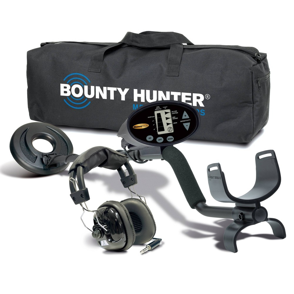 Image of Bounty Hunter Discovery 1100 with Headphones and Carry Bag - Black