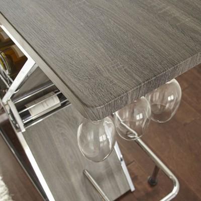 Joanna Bar Table Gray   Steve Silver