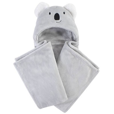 Hudson Baby Unisex Baby and Toddler Hooded Animal Face Plush Blanket - Koala One Size