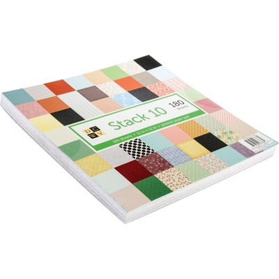 """DCWV Single-Sided Cardstock Stack 12""""X12"""" 180/Pkg-Stack 10 Printed, 60 Designs/3 Each"""