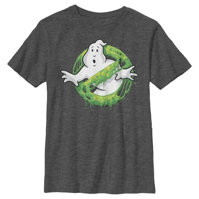 Boy's Ghostbusters Slime Logo T-Shirt